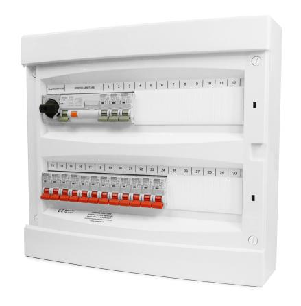 ROGY förmonterad Normcentral UTP Vit 36 moduler IP40