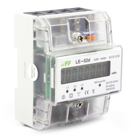 Energimätare 63A 3-fas 800imp/kwH 4-mod